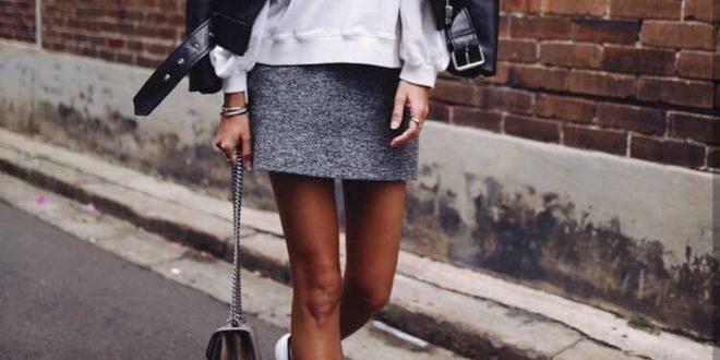 Как стильно носить мини??