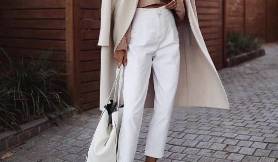 С чем носить белые джинсы осенью 2020?