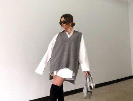 Вязаный жилет – тренд сезона🔥 С чем носить?